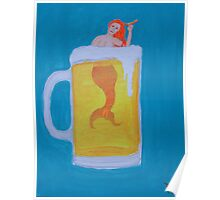 Beer Mermaid Poster