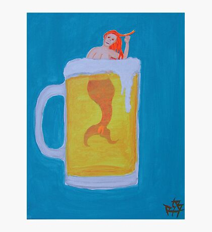 Beer Mermaid Photographic Print
