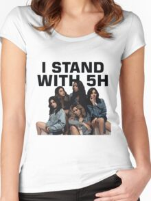 I STAND WITH FIFTH HARMONY Women's Fitted Scoop T-Shirt