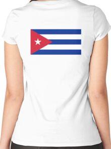 CUBA, CUBAN, CUBAN FLAG, Flag of Cuba, Caribbean, Pure & Simple Women's Fitted Scoop T-Shirt