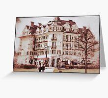 Classic European castle Greeting Card