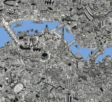 London Map Drawing Sticker