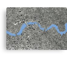 London Map Drawing Canvas Print