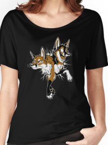 STUCK Foxes (red) Women's Relaxed Fit T-Shirt