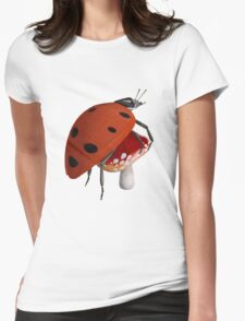 Short-Sighted Ladybug Womens Fitted T-Shirt