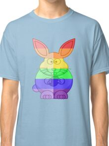 Love U Tees Funny Rainbow Animals Bunny Rabbit LGBT Pride Week Swag, Unique Rainbow Gifts Classic T-Shirt