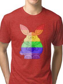 Love U Tees Funny Rainbow Animals Bunny Rabbit LGBT Pride Week Swag, Unique Rainbow Gifts Tri-blend T-Shirt