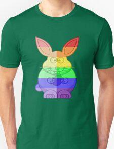 Love U Tees Funny Rainbow Animals Bunny Rabbit LGBT Pride Week Swag, Unique Rainbow Gifts Unisex T-Shirt