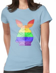 Love U Tees Funny Rainbow Animals Bunny Rabbit LGBT Pride Week Swag, Unique Rainbow Gifts Womens Fitted T-Shirt
