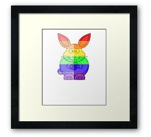Love U Tees Funny Rainbow Animals Bunny Rabbit LGBT Pride Week Swag, Unique Rainbow Gifts Framed Print