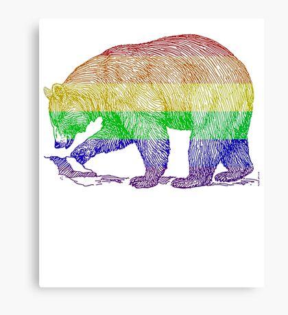Love U Tees Funny Rainbow Animals LGBT Bear Pride Week Swag, Unique Rainbow Gifts Canvas Print