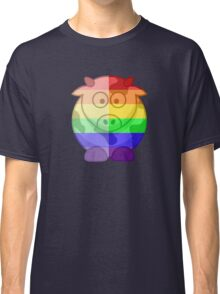 Love U Tees Funny Rainbow Animals Moo Cow LGBT Pride Week Swag, Unique Rainbow Gifts Classic T-Shirt