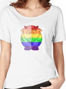 Love U Tees Funny Rainbow Animals Moo Cow LGBT Pride Week Swag, Unique Rainbow Gifts Women's Relaxed Fit T-Shirt