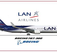 Airlines Colletion Boeing 767-300 LAN by wilsoncara