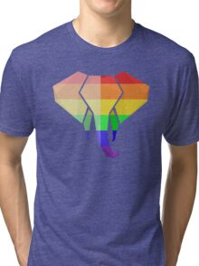 Love U Tees Funny Rainbow Animals LGBT Pride Week Swag, Unique Rainbow Gifts Tri-blend T-Shirt