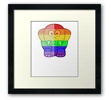 Love U Tees Funny Rainbow Animals Elephant LGBT Pride Week Swag, Unique Rainbow Gifts Framed Print
