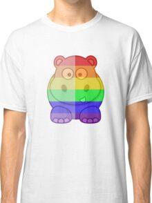Love U Tees Funny Rainbow Animals Hippo LGBT Pride Week Swag, Unique Rainbow Gifts Classic T-Shirt