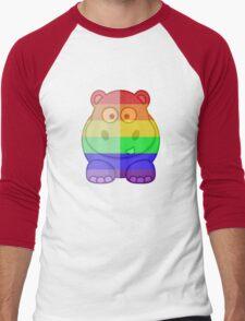 Love U Tees Funny Rainbow Animals Hippo LGBT Pride Week Swag, Unique Rainbow Gifts Men's Baseball ¾ T-Shirt