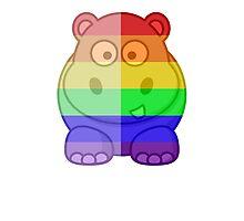 Love U Tees Funny Rainbow Animals Hippo LGBT Pride Week Swag, Unique Rainbow Gifts Photographic Print