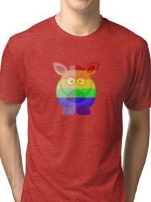 Love U Tees Funny Rainbow Horse Animals LGBT Pride Week Swag, Unique Rainbow Gifts Tri-blend T-Shirt
