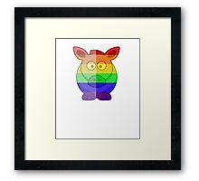 Love U Tees Funny Rainbow Horse Animals LGBT Pride Week Swag, Unique Rainbow Gifts Framed Print