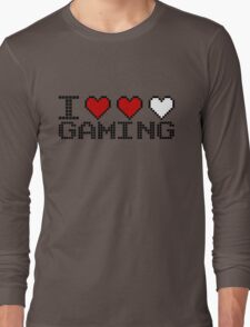 I Heart Gaming Quote Long Sleeve T-Shirt