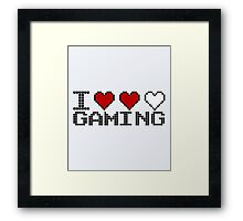 I Heart Gaming Quote Framed Print