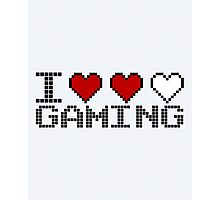 I Heart Gaming Quote Photographic Print