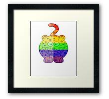Love U Tees Funny Rainbow Animals Cheetah Cat LGBT Pride Week Swag, Unique Rainbow Gifts Framed Print