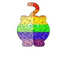Love U Tees Funny Rainbow Animals Cheetah Cat LGBT Pride Week Swag, Unique Rainbow Gifts Photographic Print