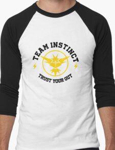 Pokemon Go TEAM INSTINCT Men's Baseball ¾ T-Shirt