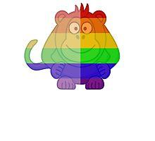 Love U Tees Funny Rainbow Animals monkey LGBT Pride Week Swag, Unique Rainbow Gifts Photographic Print