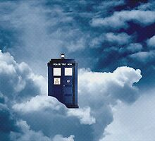 Tardis on a cloud by amyskhaleesi