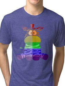Love U Tees Funny Rainbow Animals zebra LGBT Pride Week Swag, Unique Rainbow Gifts Tri-blend T-Shirt
