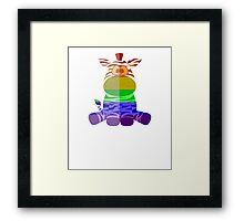 Love U Tees Funny Rainbow Animals zebra LGBT Pride Week Swag, Unique Rainbow Gifts Framed Print