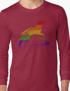 Love U Tees Funny Rainbow Animals otter LGBT Pride Week Swag, Unique Rainbow Gifts Long Sleeve T-Shirt