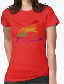 Love U Tees Funny Rainbow Animals otter LGBT Pride Week Swag, Unique Rainbow Gifts Womens Fitted T-Shirt