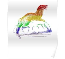 Love U Tees Funny Rainbow Animals otter LGBT Pride Week Swag, Unique Rainbow Gifts Poster