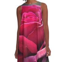 Red rose A-Line Dress