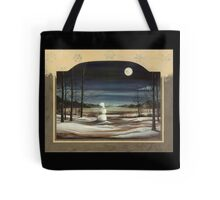 Snow Man in The Moon with Border Tote Bag