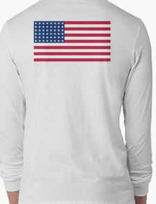 AMERICAN, Stars & Stripes, US Flag, WAR FLAG, 48 stars. Used 47 years, July 4, 1912, to July 3, 1959. Long Sleeve T-Shirt