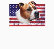 AmStaff American Staffordshire Terrier USA grunge FLAG Unisex T-Shirt