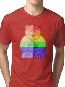 Love U Tees Funny Rainbow Animals Polar Bear LGBT Pride Week Swag, Unique Rainbow Gifts Tri-blend T-Shirt