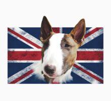 Bull Terrier UK grunge FLAG One Piece - Short Sleeve