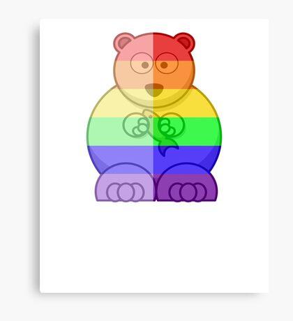 Love U Tees Funny Rainbow Animals Polar Bear LGBT Pride Week Swag, Unique Rainbow Gifts Canvas Print