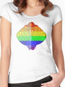 Love U Tees Funny Rainbow Animals Peacock, bird LGBT Pride Week Swag, Unique Rainbow Gifts Women's Fitted Scoop T-Shirt