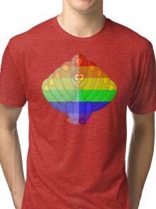 Love U Tees Funny Rainbow Animals Peacock, bird LGBT Pride Week Swag, Unique Rainbow Gifts Tri-blend T-Shirt