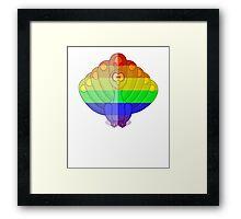 Love U Tees Funny Rainbow Animals Peacock, bird LGBT Pride Week Swag, Unique Rainbow Gifts Framed Print