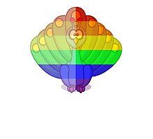 Love U Tees Funny Rainbow Animals Peacock, bird LGBT Pride Week Swag, Unique Rainbow Gifts Photographic Print