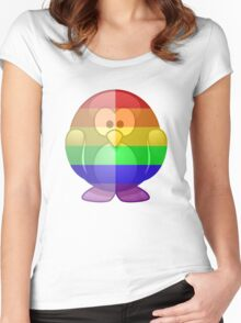 Love U Tees Funny Rainbow Animals Penguin LGBT Pride Week Swag, Unique Rainbow Gifts Women's Fitted Scoop T-Shirt